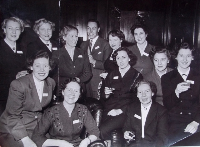 Irene Sheldon, right, attended a conference for managers in the Dorothy Perkins organisation at Ashridge in Hertfordshire.  Mr Farmer is the thorn amongst the roses.  Mrs Brown, front left, and area manager Miss Marriot is front right,