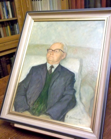 Albert Sperrin (1903–1987) by J. Buchanan. Date painted: 1979 Oil on canvas, 53 x 42.5 cm