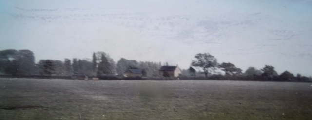 A hazy image of Keepers Cottage from Owletts in the 1940s