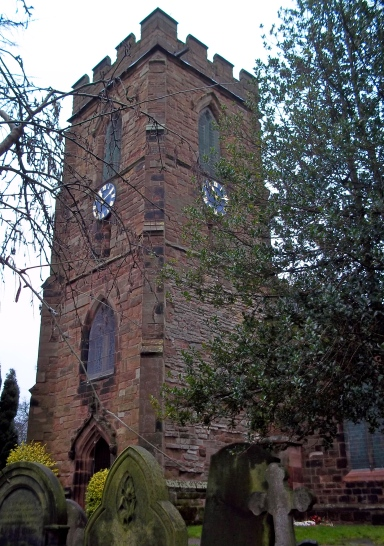 St Mary the Virgin, Aldridge.  The Church Tower.  January 2014