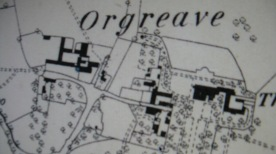 OS 1881 - Prior to the extension of Orgreave House. www.oldmapsonline.org