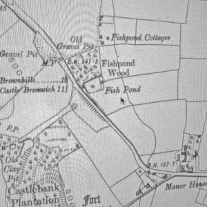Fishponds Cottages, in the early 20th century. Via oldmapsonline.org