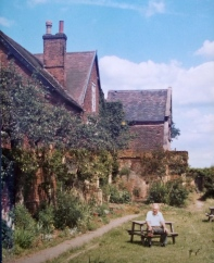 My dad in the garden of the manor house, Hamstall Ridware. C.1982.