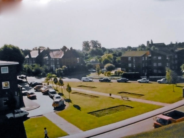 From a vantage point high up in the Avion Building, the junction of Anchor Road and Portland Road, now site of a mini-roundabout.