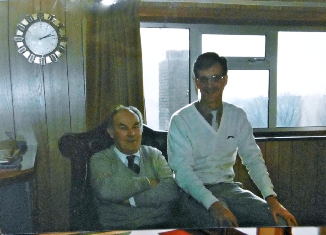 My dad and Mick in the Avion's office. They were close friends, and Mick gave the eulogy at my dad's funeral.