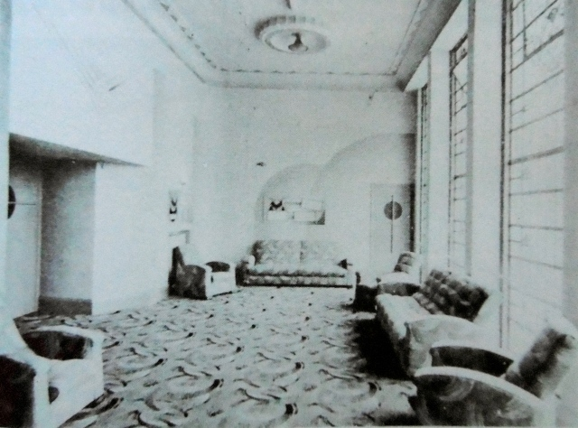 "The tea lounge of The Avion, as featured in the souvenir opening in 1938. As reproduced in ""Aldridge in Old Photographs,"" by Jan Farrow."