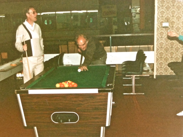 "Ted Horton ""taking a break"" at the Avion in the 1980s"
